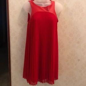 Feminine Red Dress Small